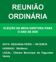 ÚLTIMA SESSÃO ORDINÁRIA DO ANO DE 2019